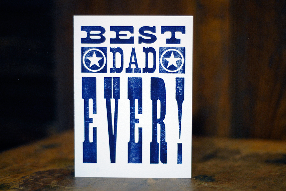 card for dad with great typography