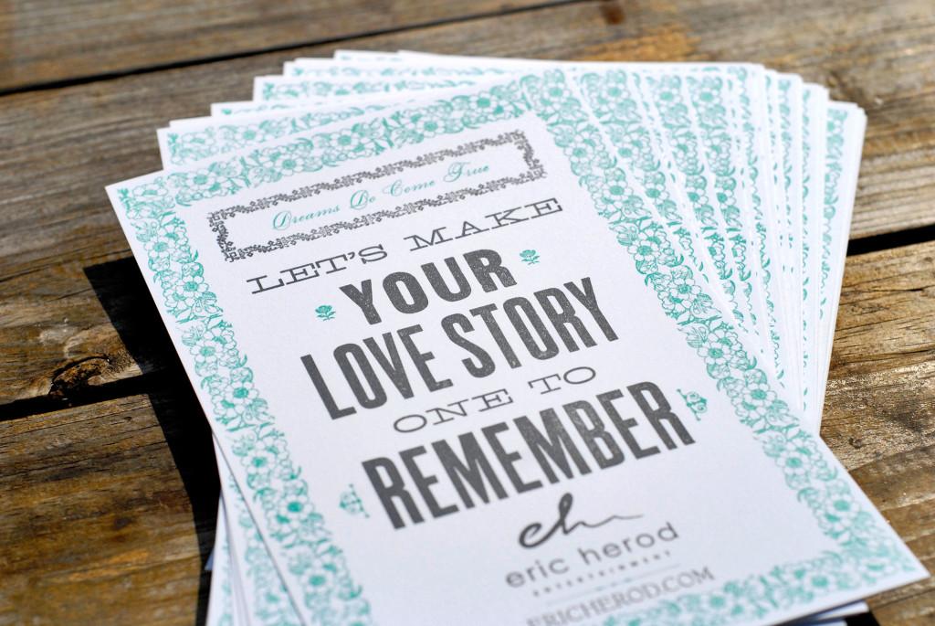 letterpress 2-color custom promotional business flyer