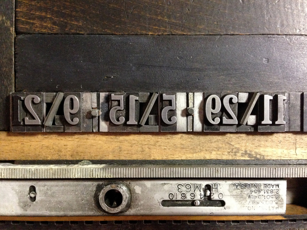 Letterpress Broadside metal type