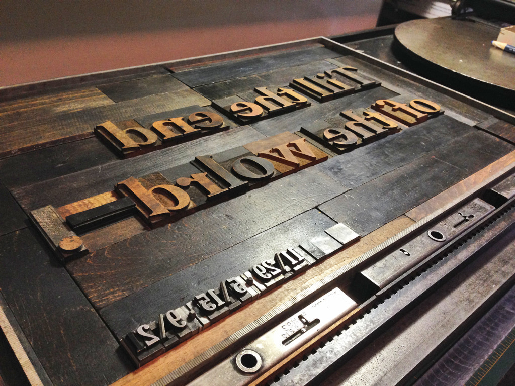 Letterpress Broadside Lockup