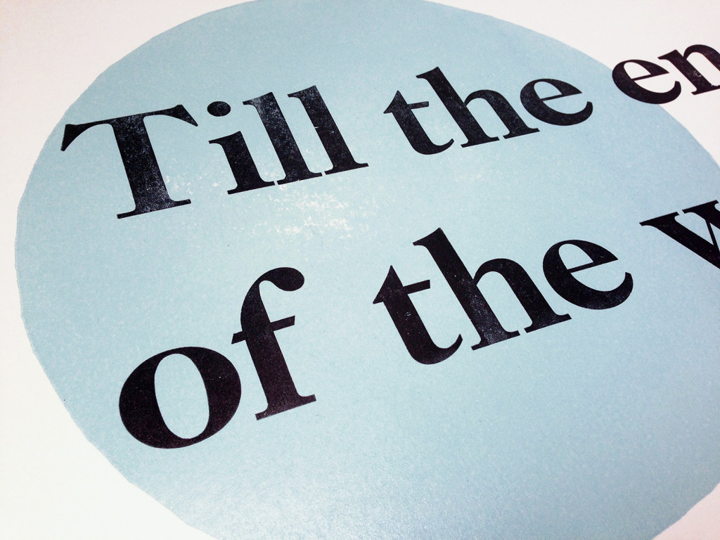 Letterpress Broadside closeup