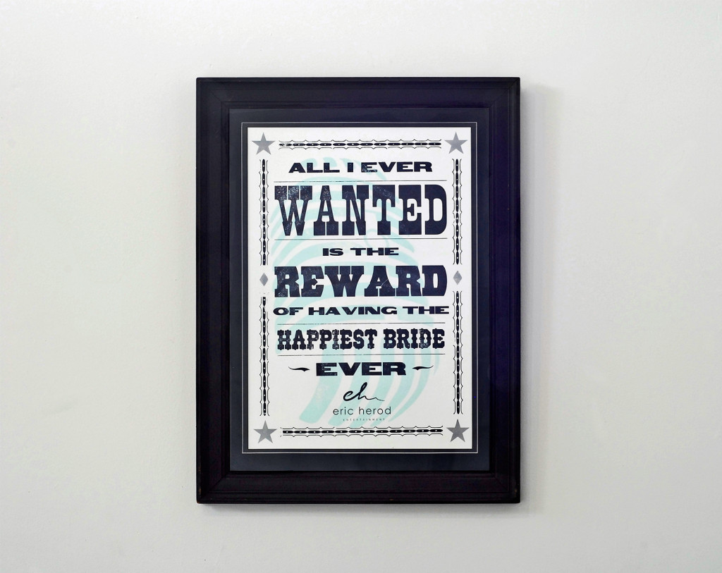 Letterpress Broadside Old Timey Wanted Poster