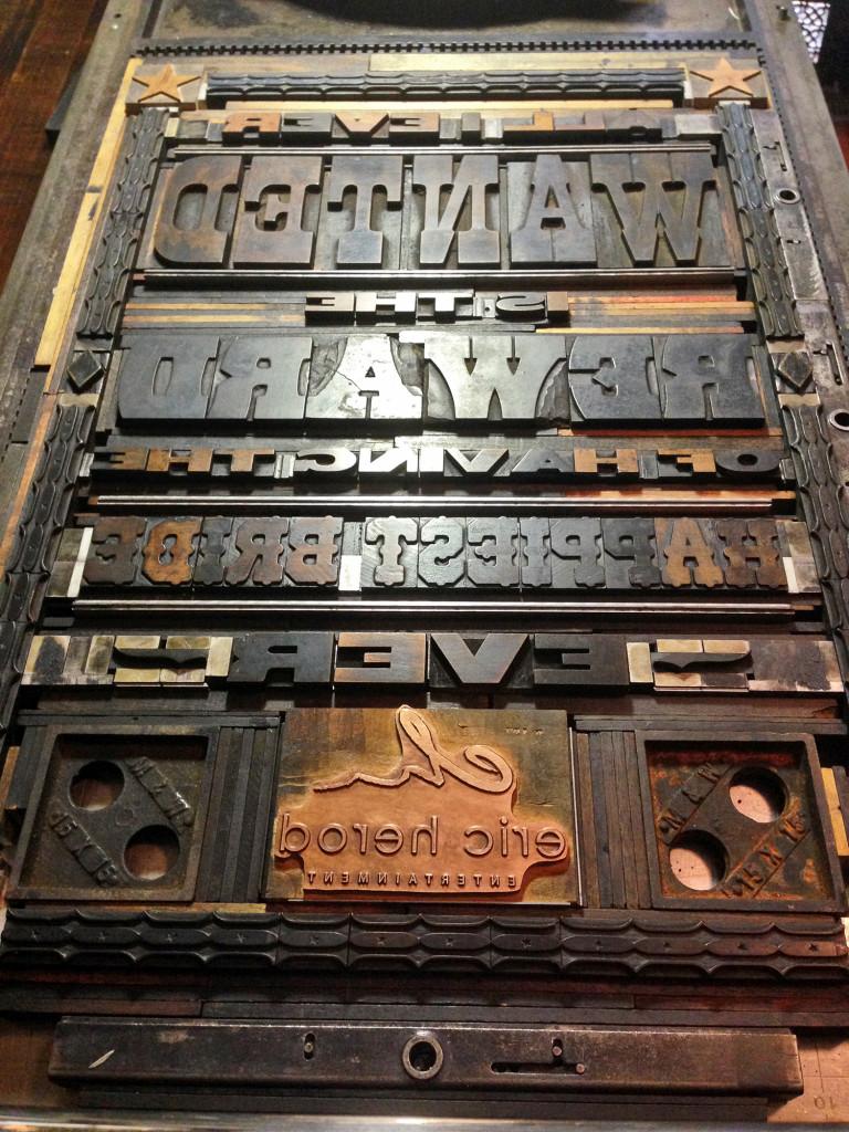 Lockup for Letterpress Broadside Wood Type